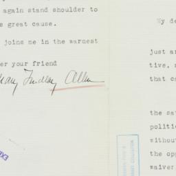 Letter : 1936 November 11