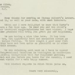 Letter: 1947 June 4