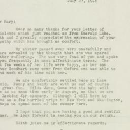 Letter : 1948 July 27