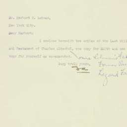 Letter: 1927 May 20
