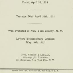 Pamphlet: 1927 April 26