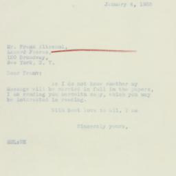 Letter: 1933 January 4