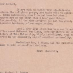 Letter: 1935 May 2