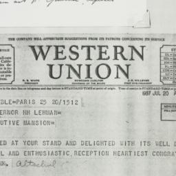Telegram: 1937 July 20