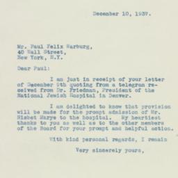 Letter: 1937 December 10