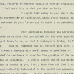 Letter : 1923 November 13