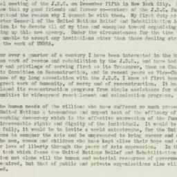 Letter : 1943 November 20