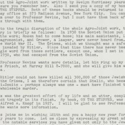 Letter: 1962 January 3
