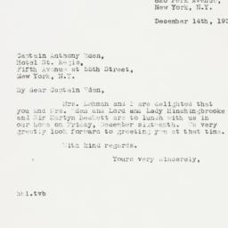 Letter : 1938 December 14