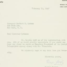 Letter: 1947 February 13