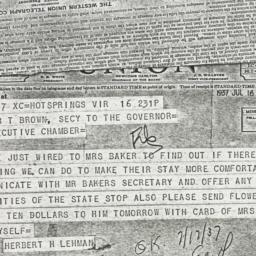 Telegram : 1937 July 16