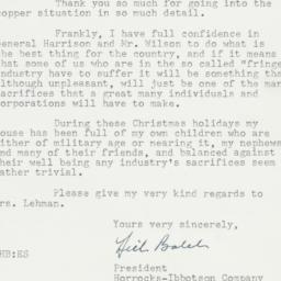 Letter: 1950 December 26