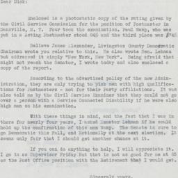 Letter: 1953 December 10