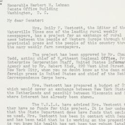 Letter: 1954 February 20