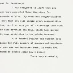 Letter : 1961 January 19