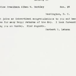 Letter : 1950 November 24