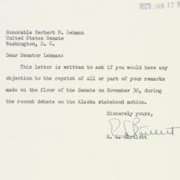 Letter : 1951 January 16