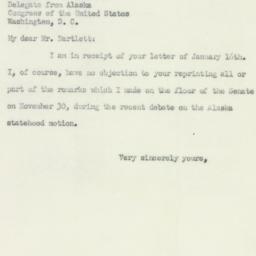Letter : 1951 January 18