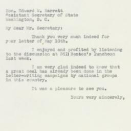 Letter : 1950 May 16