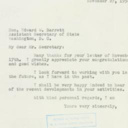 Letter: 1950 November 27