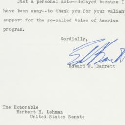 Letter: 1951 September 17