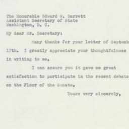Letter: 1951 September 19