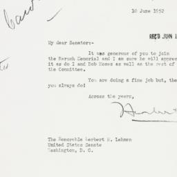 Letter: 1952 June 10
