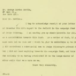 Letter : 1925 November 10