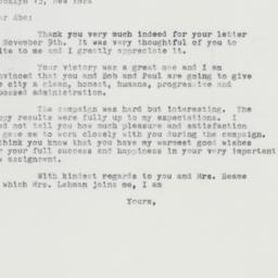 Letter : 1961 November 15