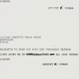 Telegram : 1957 October 31
