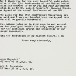 Letter : 1962 December 31