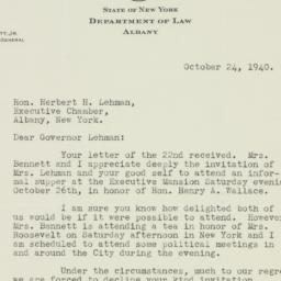 Letter: 1940 October 24