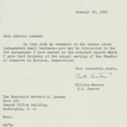 Letter : 1950 January 30