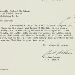 Letter : 1950 May 10