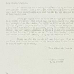 Letter: 1950 November 16