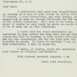 Letter: 1951 March 9