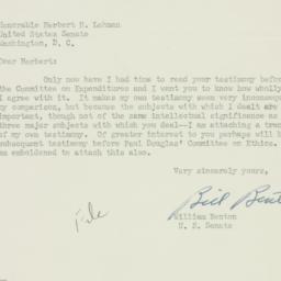 Letter: 1951 July 9