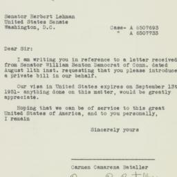 Letter: 1951 August 20