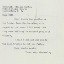Letter: 1952 May 2
