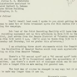 Letter: 1952 July 1