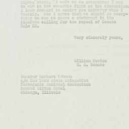 Letter: 1952 July 15