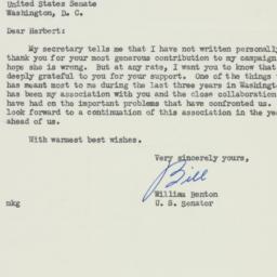 Letter: 1952 October 27