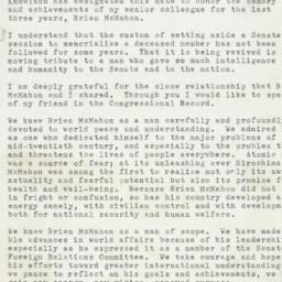Letter: 1953 February 19