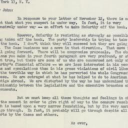 Letter: 1954 November 17