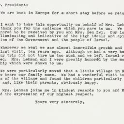 Letter: 1959 May 5