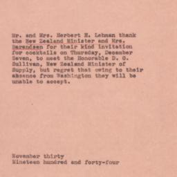Letter: 1944 November 30