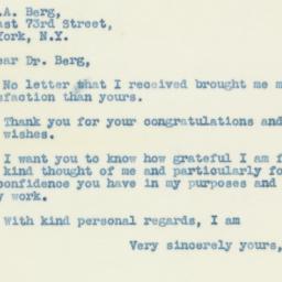 Letter: 1938 October 9