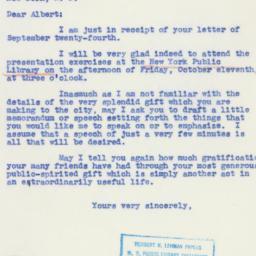 Letter: 1940 September 27