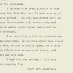Letter : 1947 June 21