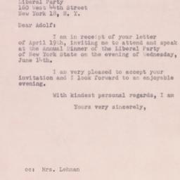 Letter: 1950 April 22